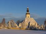 Verschneite Pretzschendorfer Kirche