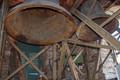 Anfang April 2018: Die Glocken aus Eisenhartguss hängen noch im stählernen Glockenstuhl.