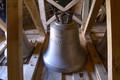 30. Juni 2018: Der neue Glockenstuhl ist fast fertig.