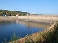 11.10.2008: Wasserseite der Sperrmauer vor der Sanierung
