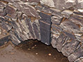 27.11.2009: Gewölbe der Pretzschendorfer Holzmühle mit Schlussstein, der während der Talsperrensanierung entwendet wurde
