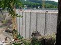 06.06.2010: Die alte Dichtwand wurde entfernt