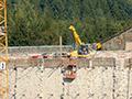 19.09.2010: Arbeiten an der Sperrmauer