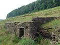 06.08.2011: Grundmauern der Pretzschendorfer Holzmühle im Staubecken