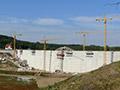 03.10.2011: Letzte Arbeiten an der Wasserseite der Mauer