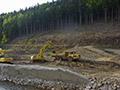 10.05.2006: Vorbereitung der Baufläche für das neue Hochwasserentlastungsbauwerk