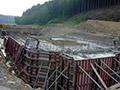 24.06.2006: Fundament für das Hochwasserentlastungsbauwerk (Entenschnabel)
