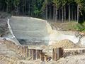 24.06.2006: Vorbereiteter Ausgang des Hochwasserentlastungsstollens