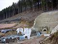 28.12.2007: Begonnener Bau des Stolleneinlaufbauwerks