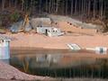 15.10.2008: Probestau und letzte Arbeiten